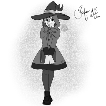 Inktober Day 15: Winter Witch by SakiCakes