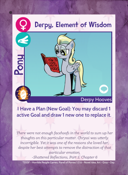 Pony Card - Derpy, Element of Wisdom 1.0.6 by MLP-NovelIdea