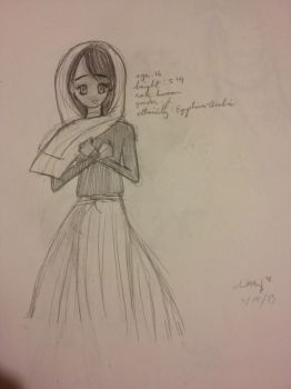 OC Character - Ma'isah Abboud (1st concept) by choxie-chan