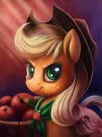 Applejack iPad Portrait by Tsitra360