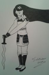 Inktober 2: Mulan Fa by OptimaC