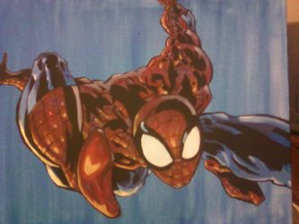 Spiderman painting by Reitom-Wolf