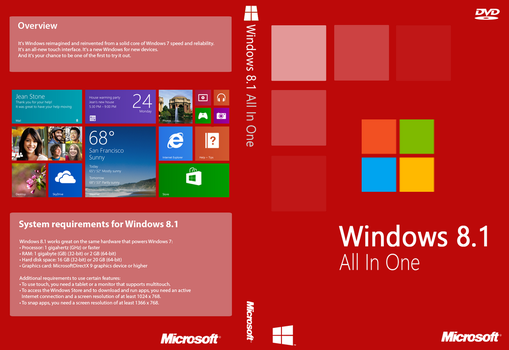Windows 8.1 All In One Cover (Unofficial) by joostiphone