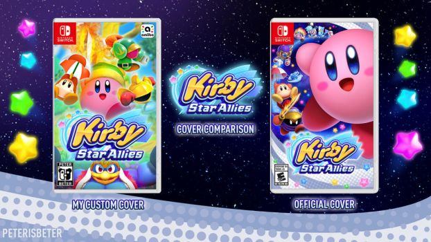 Kirby Star Allies Cover Comparison by PeterisBeter