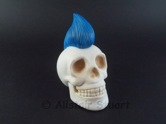 Mohawk Skull +Commission+ by Alistu