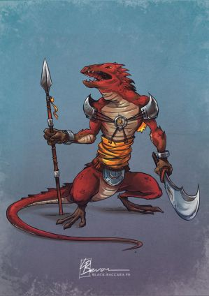 IT lizardwarrior by laurabevon by LauraBevon