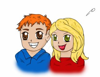 Richard and Lindsey - Anime Style - Coloured by LovesBloom