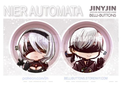 Nier Automata button set by jinyjin