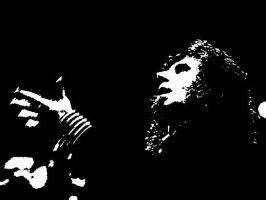 Serj in black and white by SLYKM