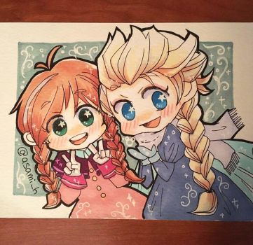 Frozen_merry christmas by asami-h