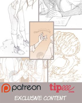 Exclusives artworks on Patreon and Tipeee -3- by Ludimie
