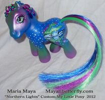 Northern Lights Custom My Little Pony by mayanbutterfly