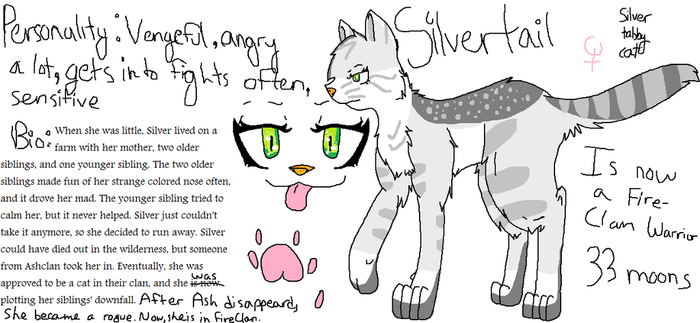Roleplay Warrior Cat - For Use on OviPets by charizardlover4