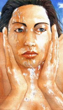 Washing the face by genaminna
