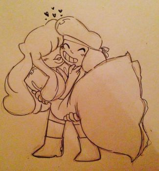 Ruby and Sapphire doodle 2 by ViLu67