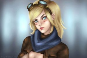 Ezreal female version by Nindei