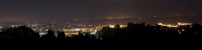 Monterey Bay: night from UCSC by kalany
