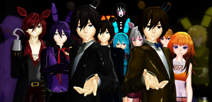 [MMD] Five Night's at Freddy's by AikoFanFan