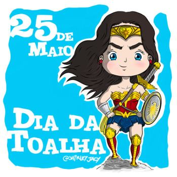 Towelday and Wonder Woman 75th Anniversary by kriptoniana
