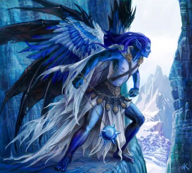 Ice angel by Folda