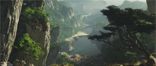 The Hidden Lake by 3DLandscapeArtist