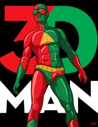 3-D Man Poster 1 by PaulSizer