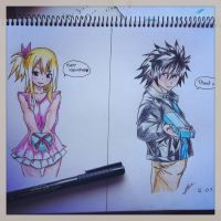 Lucy and gray:3 by Drawmaster001