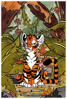 Tiger in jungle by Kamirah