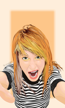 Paramore's Hayley Williams by psychoticbarbie