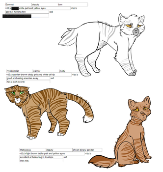 OPEN 3/3 Warriors cats WTA by OverLord-Adopts