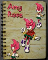 Amy Rose Fleetway style by Pu3ppchen