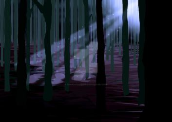 forest trees by CharlotteHewins