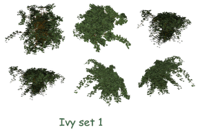 Ivy Set 1 png stock by mysticmorning