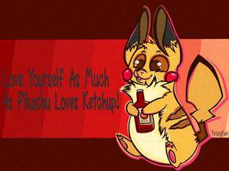 (Pokemon) Pikachu Loves Ketchup by KrazyKari