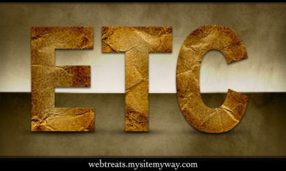 Crumpled Paper Text Effect by WebTreatsETC