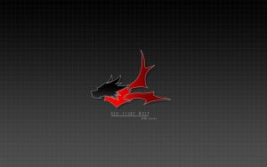 Red Scarf Wolf logo wallpaper by shanku