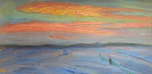 Winter Sunset. 1980 by Yudaev