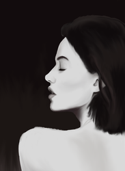 Side Profile by thalie-illustration