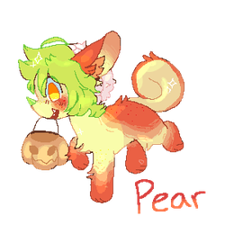 Pear [Trick or Treat YCH] by Lovincats4ever
