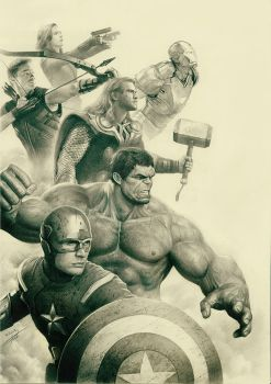 Avengers by yinyuming