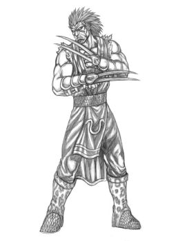 Python (Warriors of Chaos) Line Art by SoulStryder210