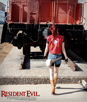 Train Yard-RE: ORC Claire Redfield Cosplay by Hamm-Sammich