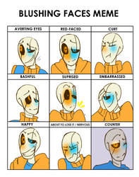 Blushing Faces Meme (Swap) by Bunnymuse