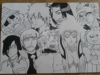 My Bleach Favourite Characters Contoured by JackieGiichi