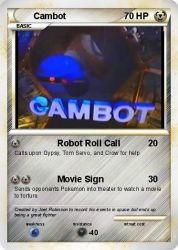 Cambot Pokemon Card by strongbadfan45