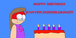 [D-BDG]: HAPPY BIRTHDAY JENNYRICHARDBLAKINA!! by Spongecat1