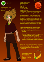 Kazul Ref Sheet by CoffeeAddictedDragon