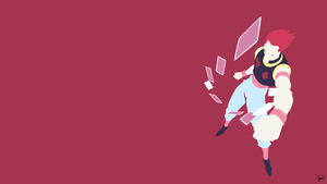 Hisoka (Hunter x Hunter) Minimalist Wallpaper by greenmapple17