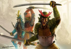 Three Samurai by Shockbolt