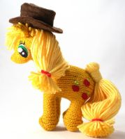 Second Applejack - Knitted Plush by SparkAbsurd